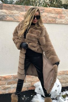 Ayunta Bogas Brown Fur Coat