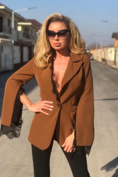 Nirolf Bogas Brown Elegant Jackets