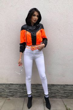 Consy Bogas White Orange Jeans