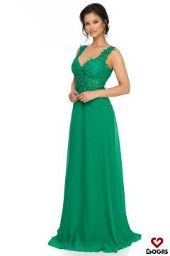 Pompasy Bogas Green Evening Dress