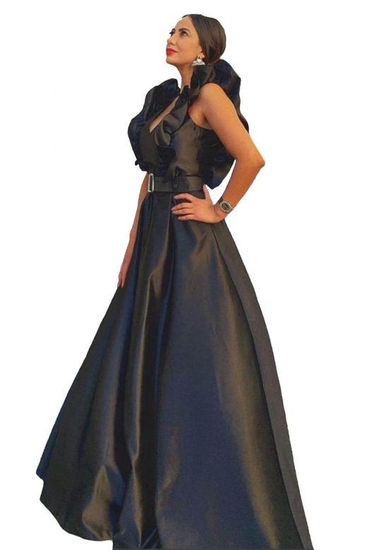 Kiwy Bogas Black Evening Dress