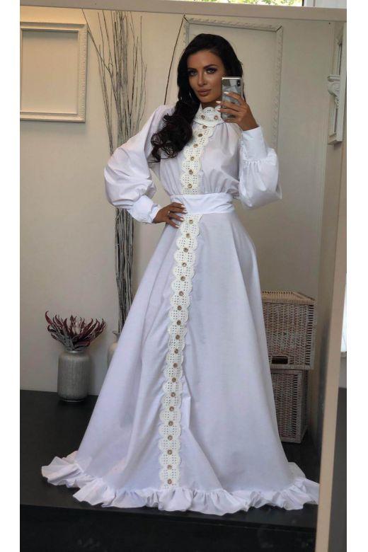 Rapidy Bogas White Evening Dress