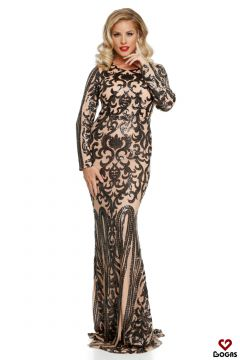 Peryta Bogas Beige Evening Dress