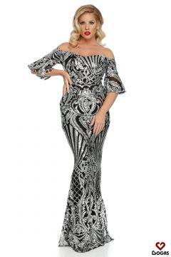 Preya Bogas Gray Evening Dress