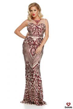 Stopy Bogas Burgundy Evening Dress