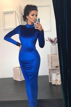 Sonsuel Bogas Blue Evening Dress