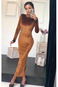 Sonsuel Bogas Brown Evening Dress
