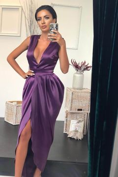 Alpenn Bogas Mauve Evening Dress