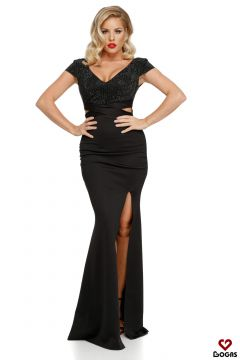 Documenty Bogas Black Evening Dress