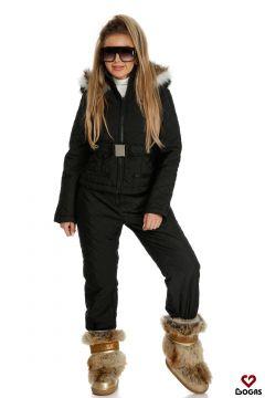 Shania Bogas Black Ski Suit