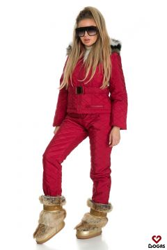 Shania Bogas Burgundy Ski Suit