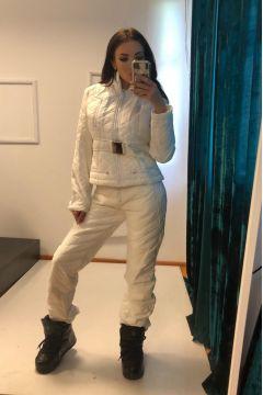 Bhania Bogas White Winter Ski Suit
