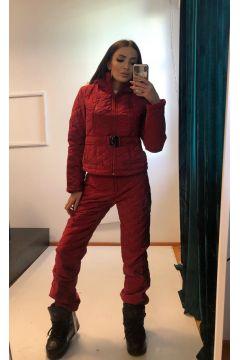 Bhania Bogas Burgundy Winter Ski Suit