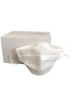 Set of 25 disposable protective masks, Bogas, 2 layers, polypropylene, white